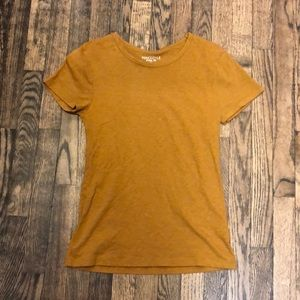 J. Crew Gold/Brown Top Size small